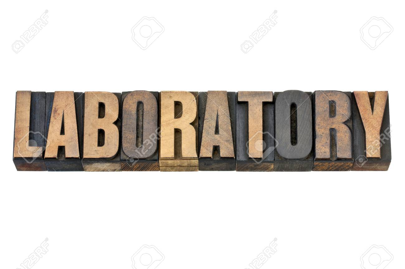 laboratory - isolated word in vintage letterpress wood type Stock Photo - 14780611