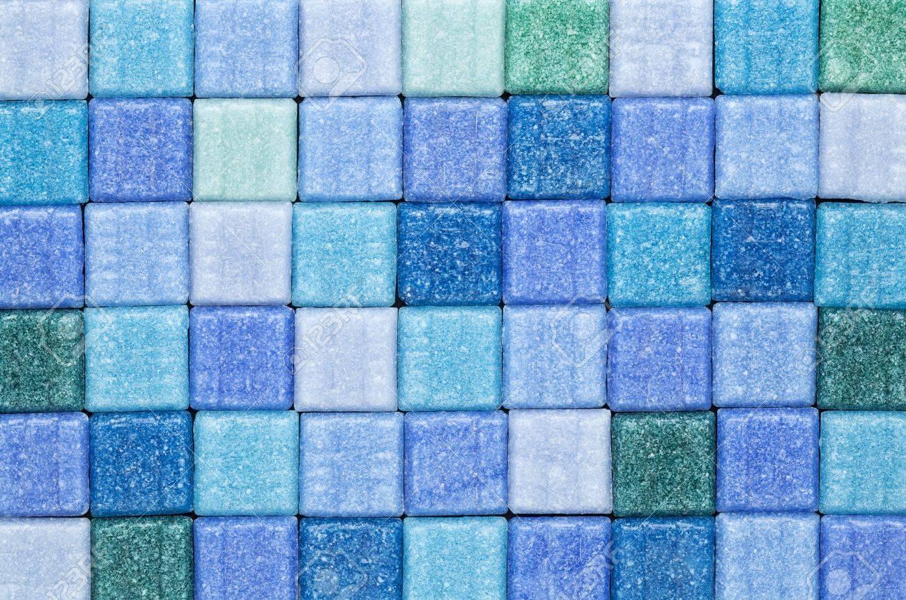 Hintergrund Des Blauen Und Grünen GlasMosaikFliesen Lizenzfreie - Glasmosaik fliesen blau