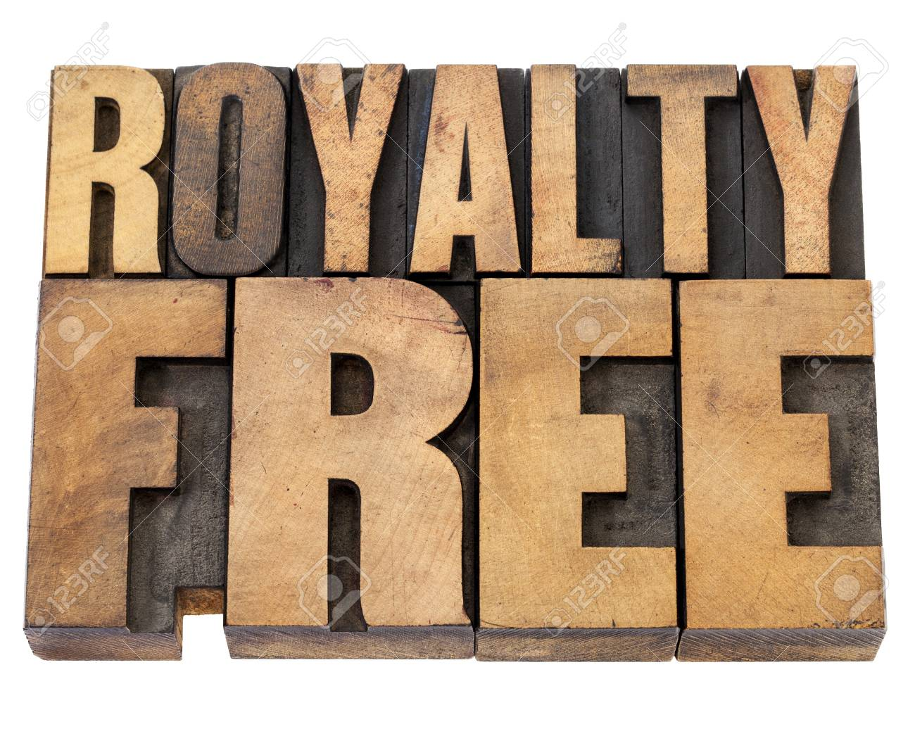 royalty free - isolated text in  vintage letterpress wood type Stock Photo - 15654932