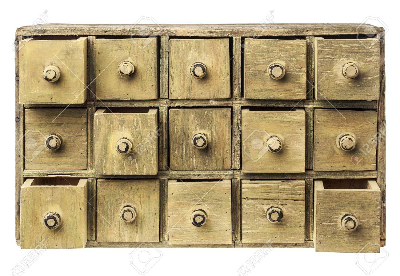 Boticario Primitivo De Madera O Mueble Con Cajones Catálogo ...