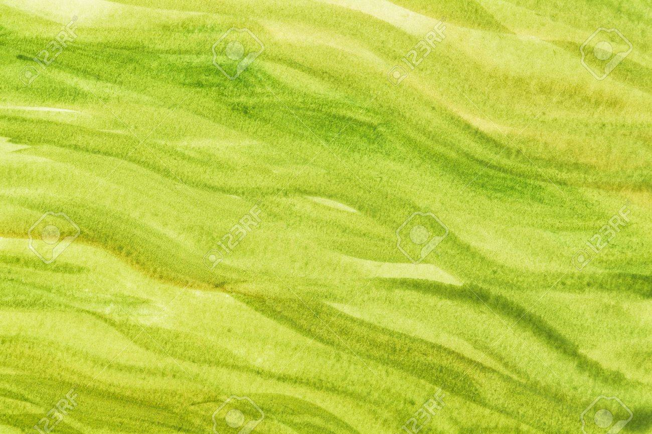 Green And Paper green and yekkow vibrant watercolor paper texture with wavy brush
