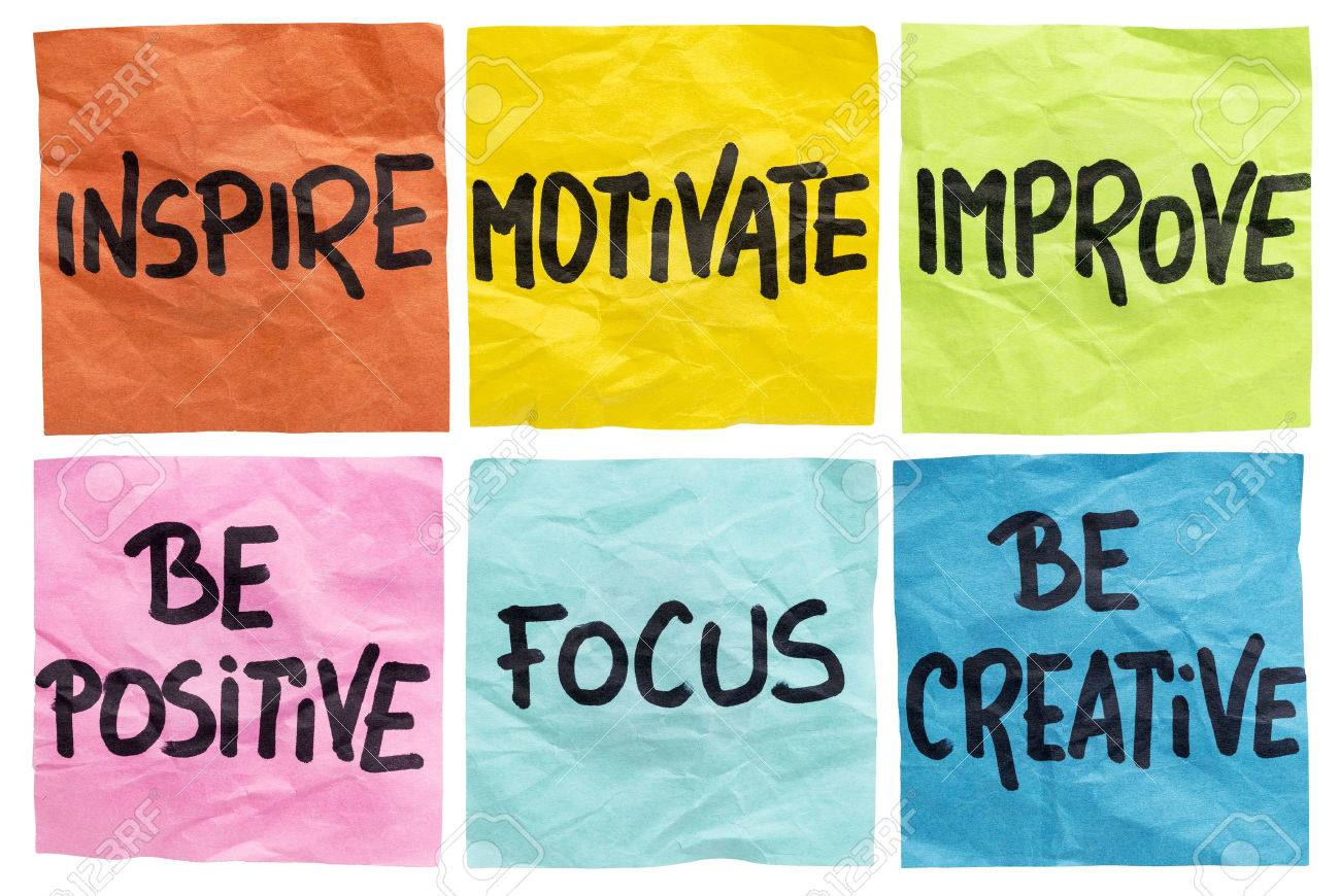 Inspire, Motivate, Improve, Be Positive, Focus, Be Creative -.. Stock  Photo, Picture And Royalty Free Image. Image 31037378.