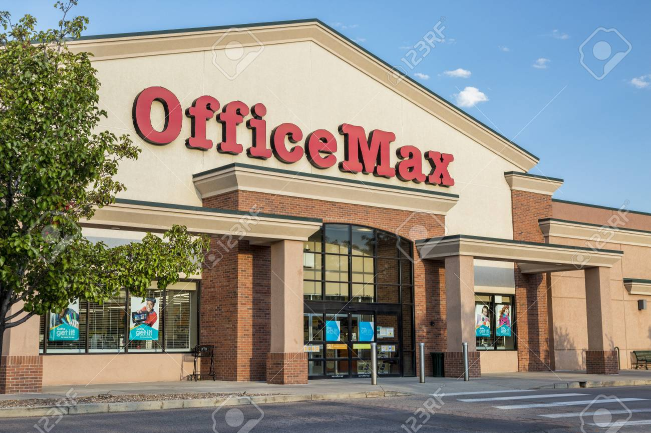 FORT COLLINS, CO, USA - SEPTEMBER 16, 2014: OfficeMax, currently