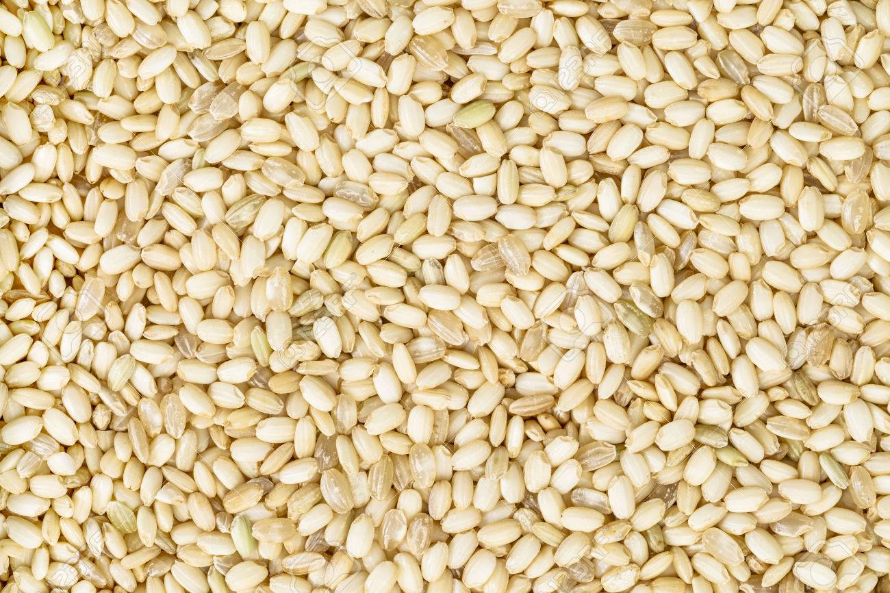 background and texture of sweet brown rice used for sticky sweets,