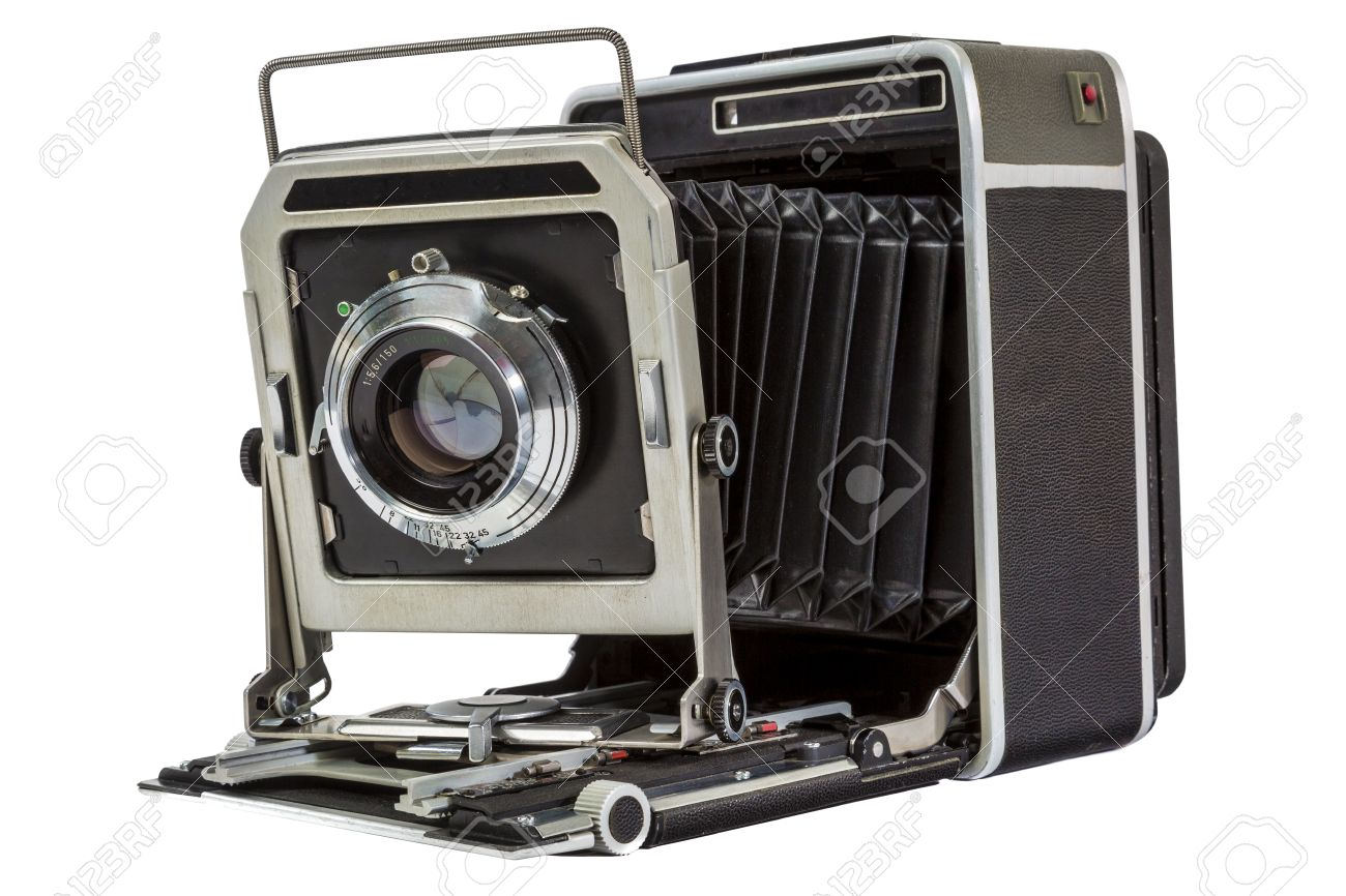 Old American Large Format 4x5 Press Camera Stock Photo