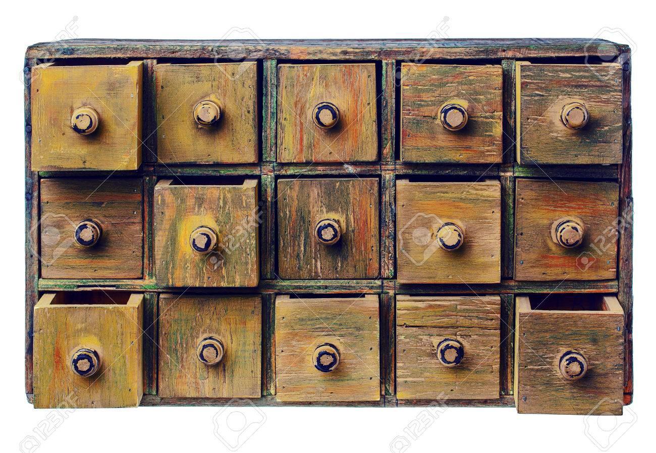 Boticario Primitiva, De Madera O Mueble Con Cajones Catálogo ...