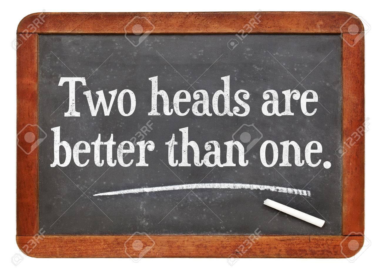Zwei Köpfe sind besser als einer