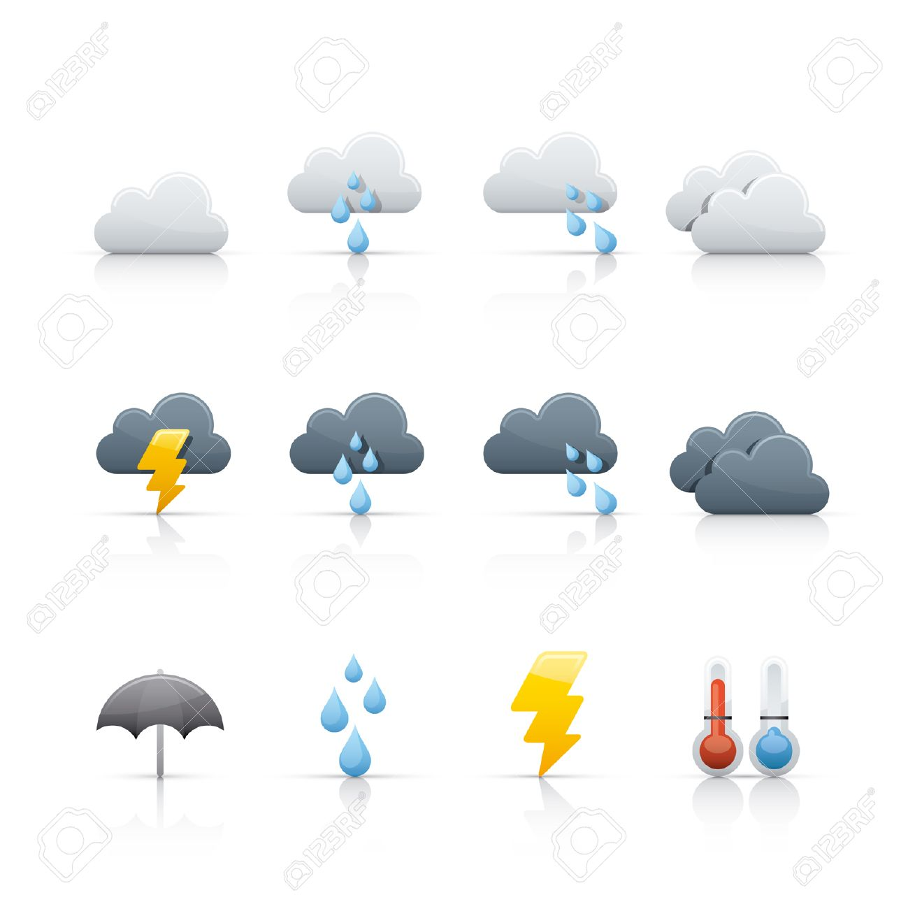 weather and climate icon set Stock Vector - 5091010