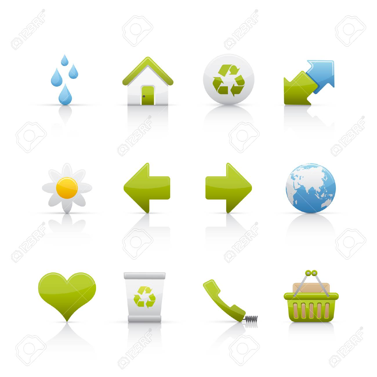 Ecology icon set Stock Vector - 5091013