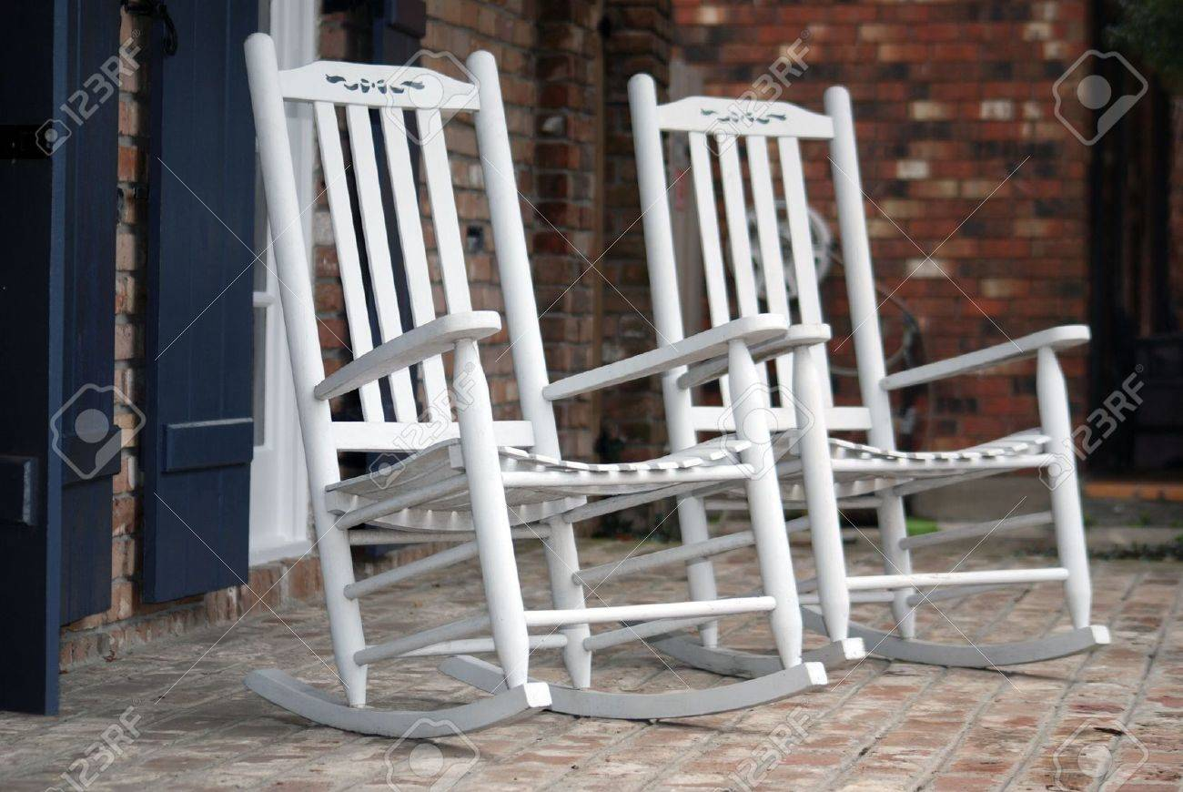 Fabulous Two Rocking Chairs Resting Southern Style On This Front Porch Gmtry Best Dining Table And Chair Ideas Images Gmtryco