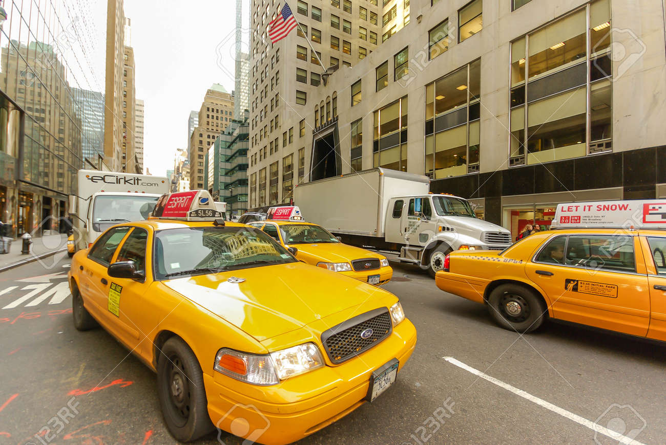 Taxi and other traffic on Third Avenue in Manhattan, New York, USA - 157051549
