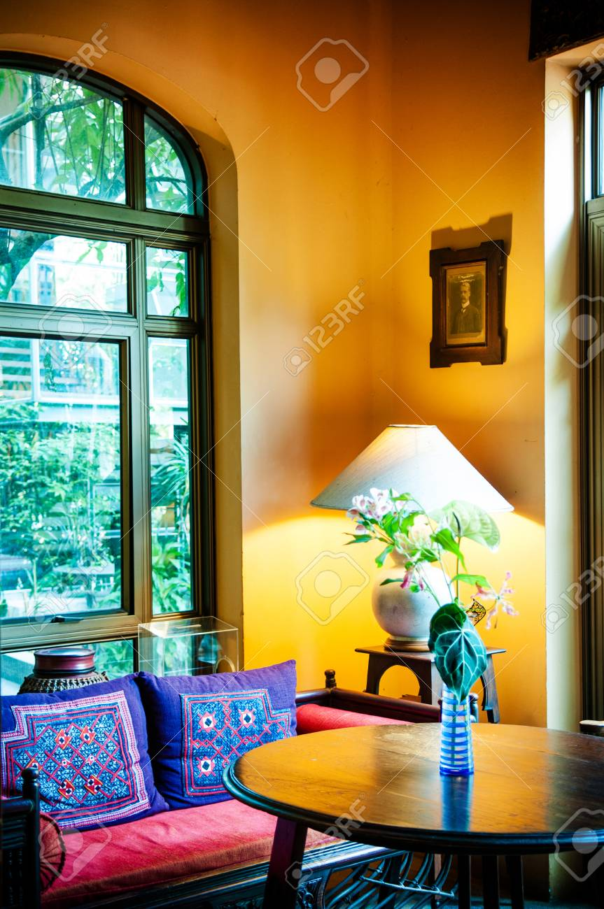 Stupendous Mar 11 2014 Bangkok Thailand Colonial Yellow Living Room Pabps2019 Chair Design Images Pabps2019Com