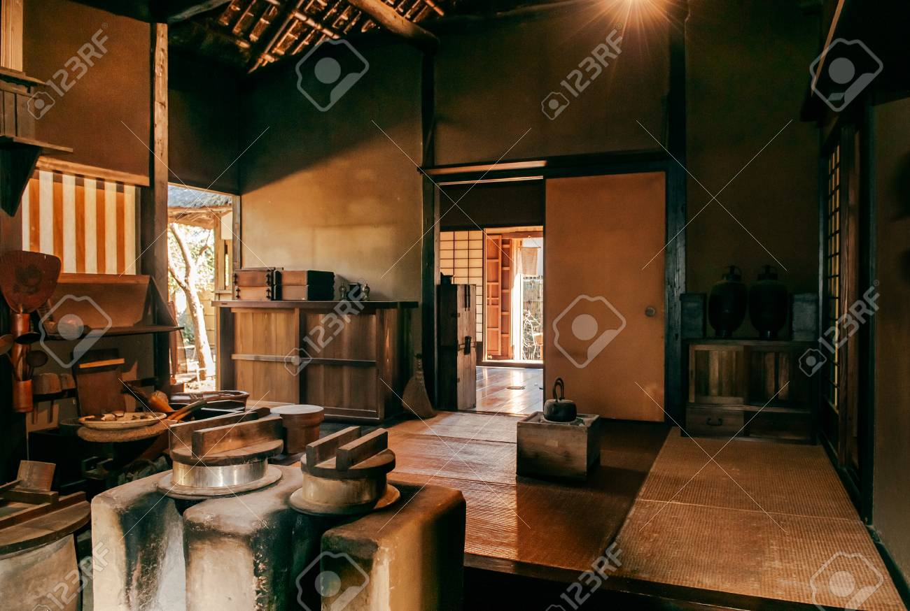 DEC 9, 9 Chiba, JAPAN   Old Vintage Kitchen With Stove Room In ...