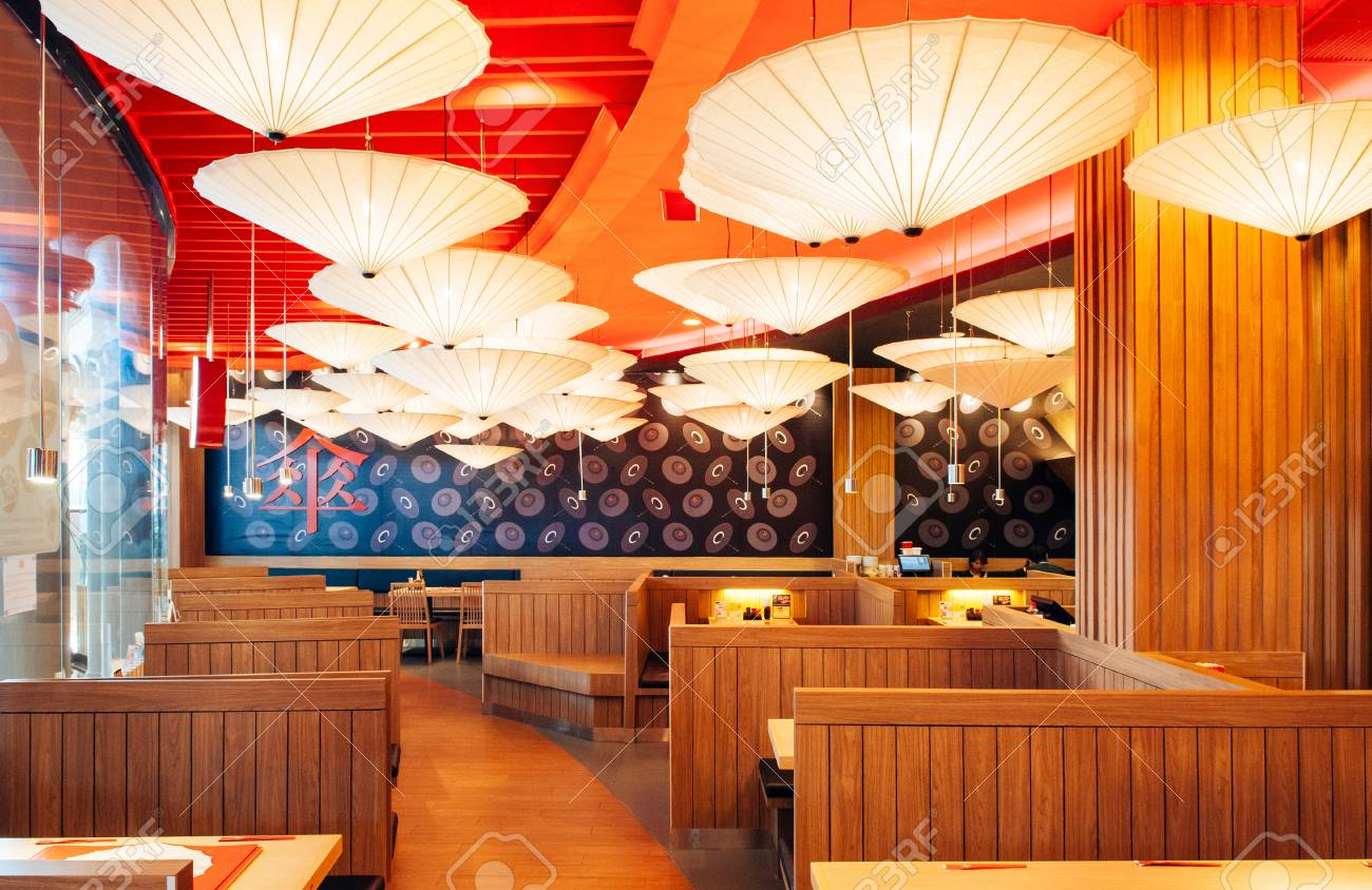 Oct 30 2013 Bangkok Thailand Vibrant Japanese Restaurant Stock Photo Picture And Royalty Free Image Image 105368949