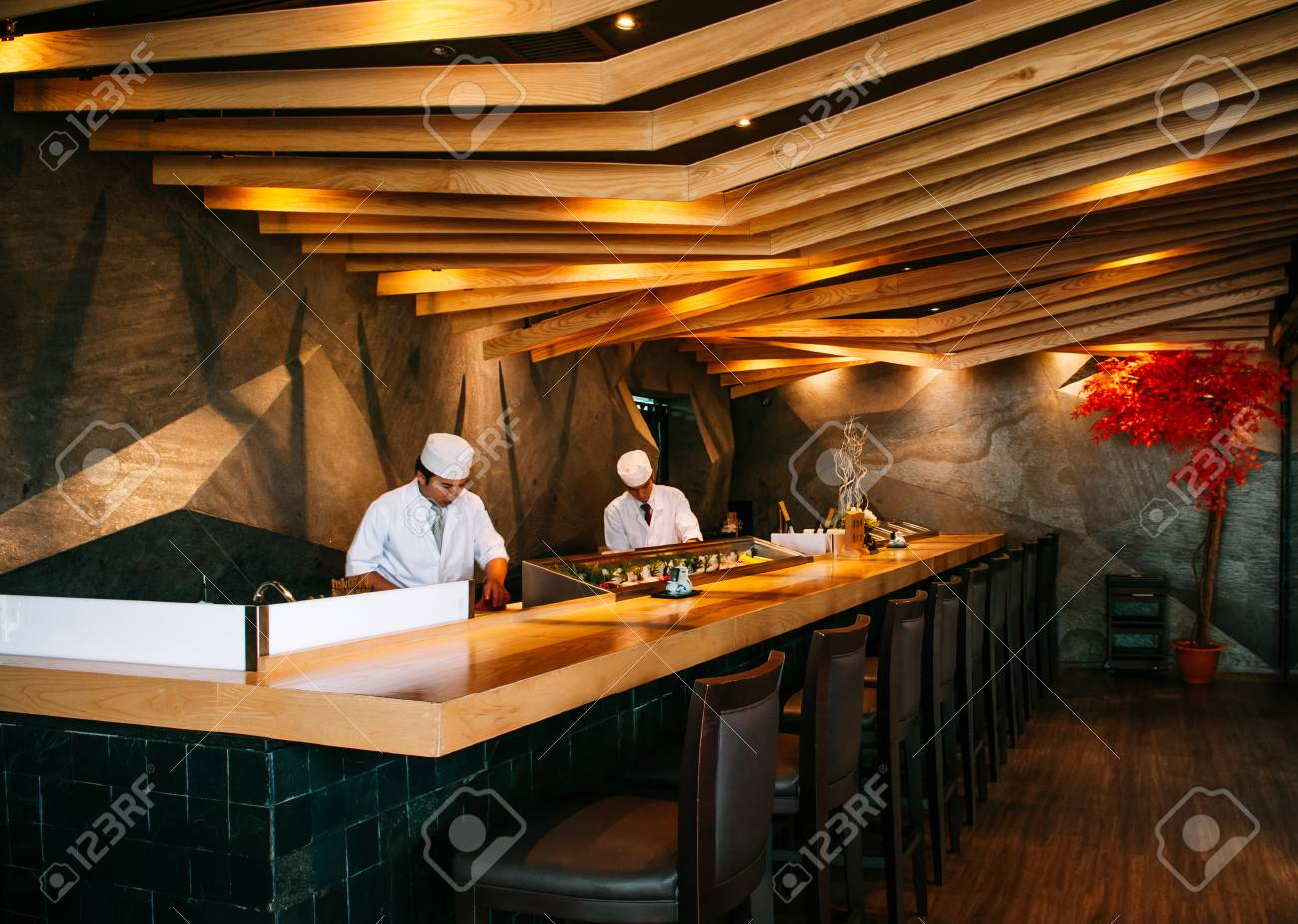 Jun 10 2013 Bangkok Thailand Modern Vibrant Japanese Sushi Stock Photo Picture And Royalty Free Image Image 110652009