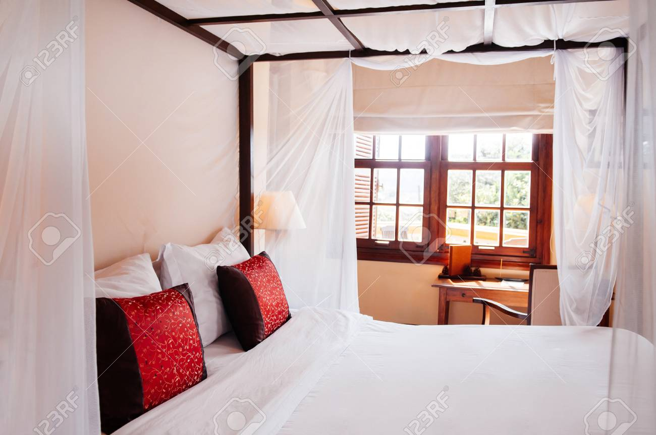 Feb 25 2014 Dalat Vietnam Asian Tropical Bedroom With Wooden Stock Photo Picture And Royalty Free Image Image 126804928