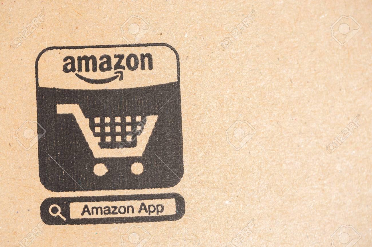 Paris, France - December 15, 2016: Amazon Prime Parcel Package