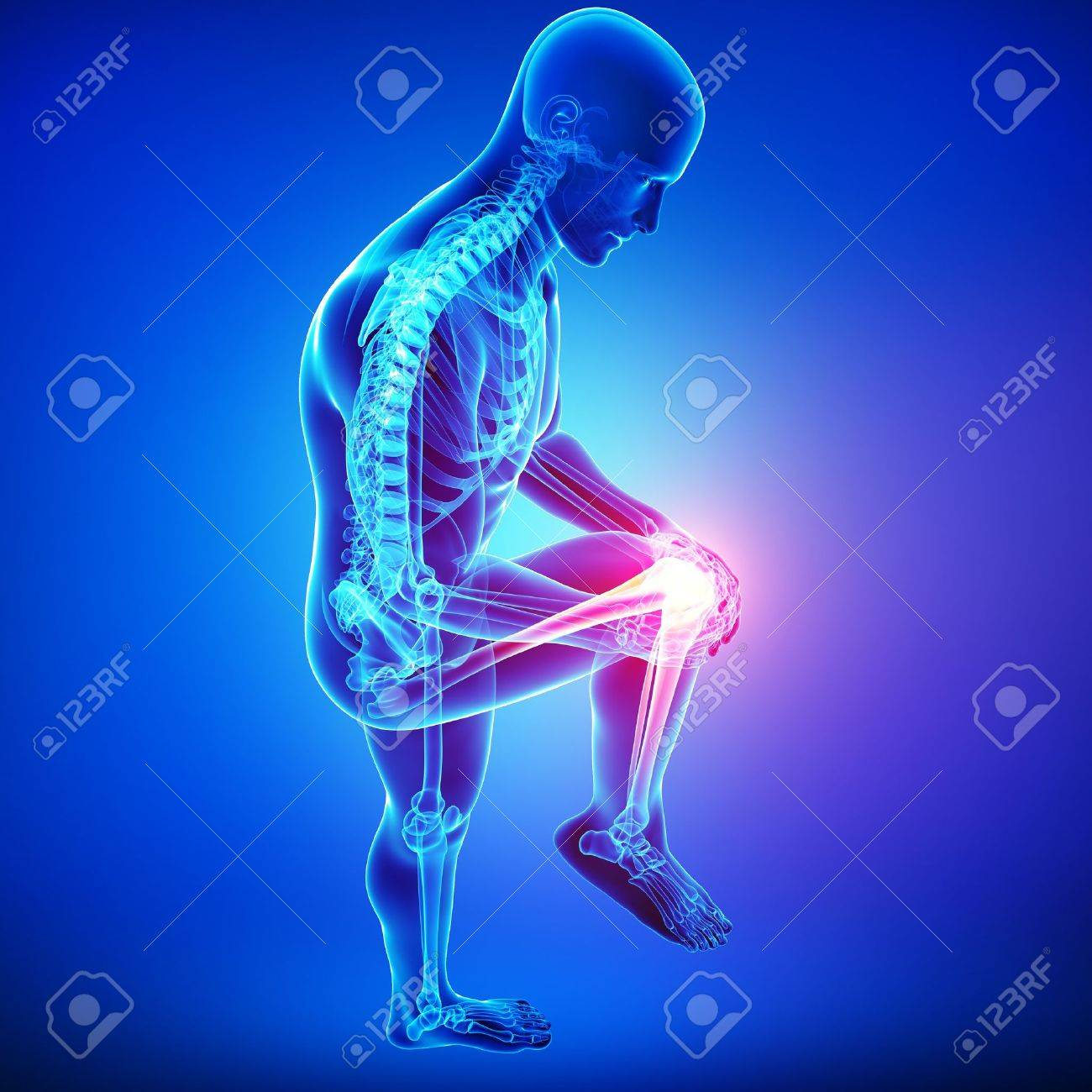 male knee pain Stock Photo - 15482489