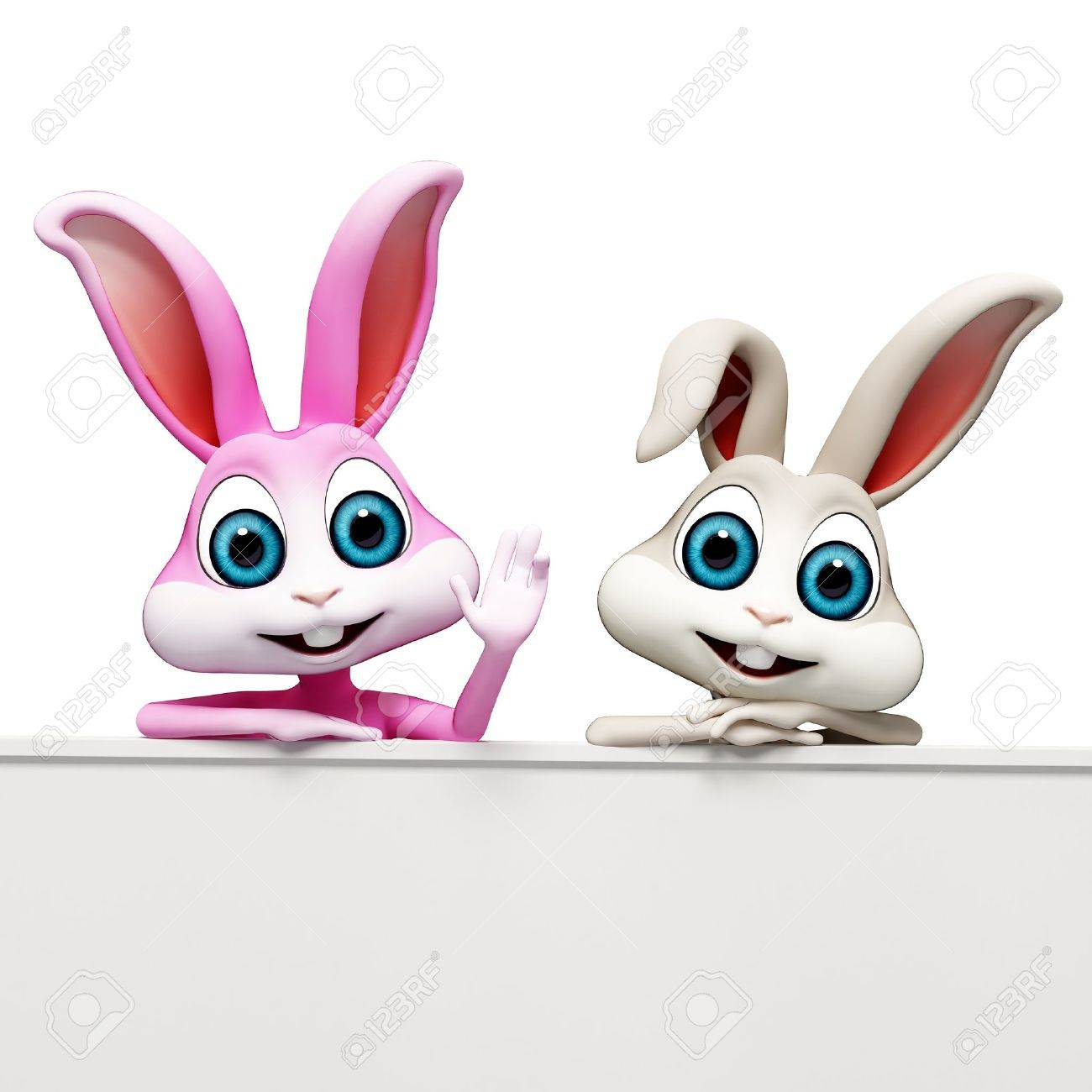 bunny with sign Stock Photo - 17513638