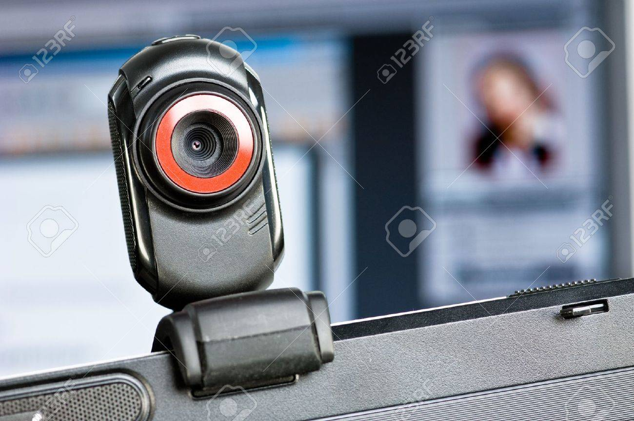 Webcam on a PC-screen Stock Photo - 7467637