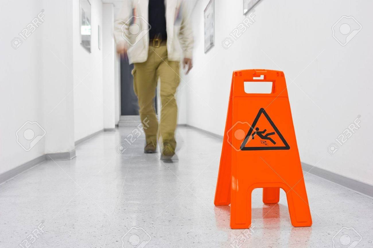 Warning sign for slippery floor Stock Photo - 7526608