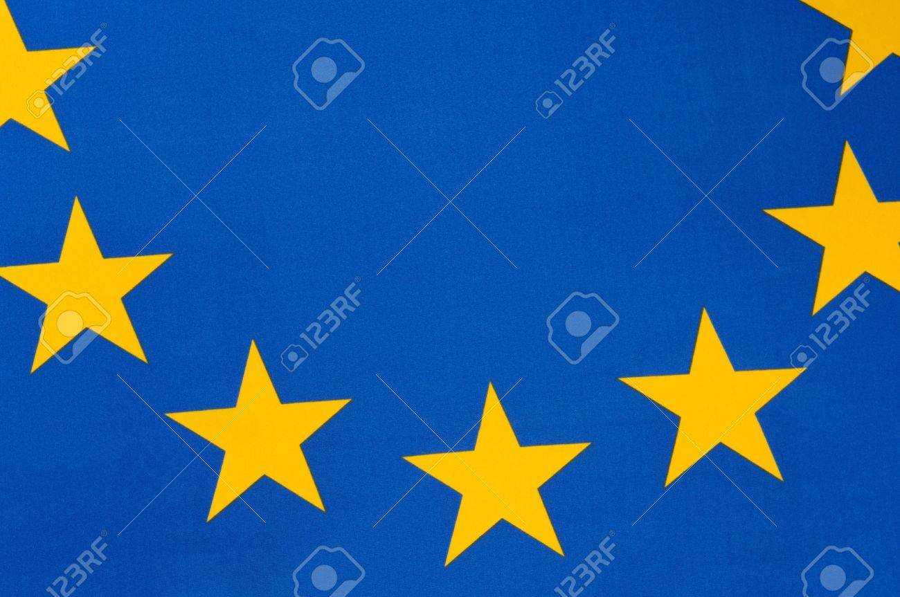 Part of a european flag with seven stars Stock Photo - 7764824