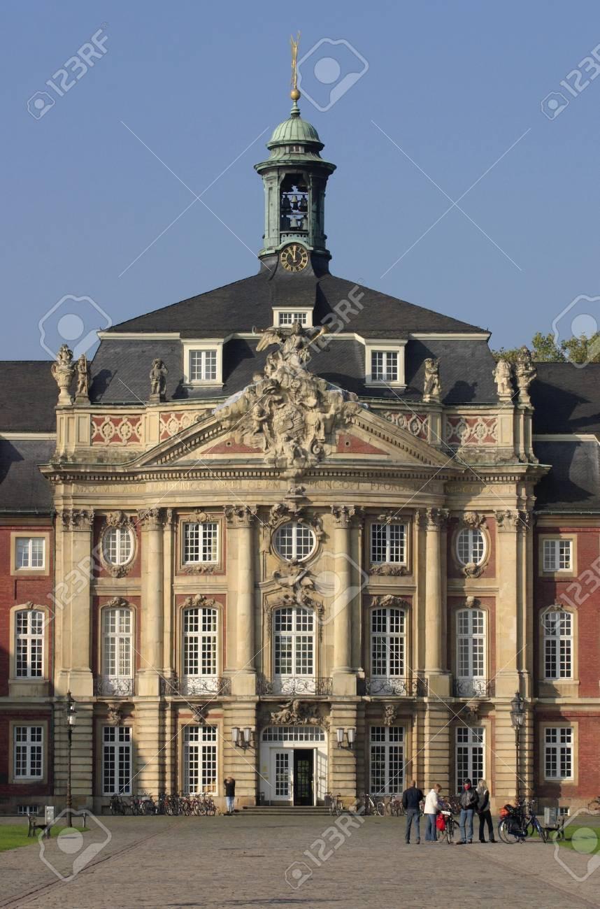 ミュンスター、ドイツの城の大学...