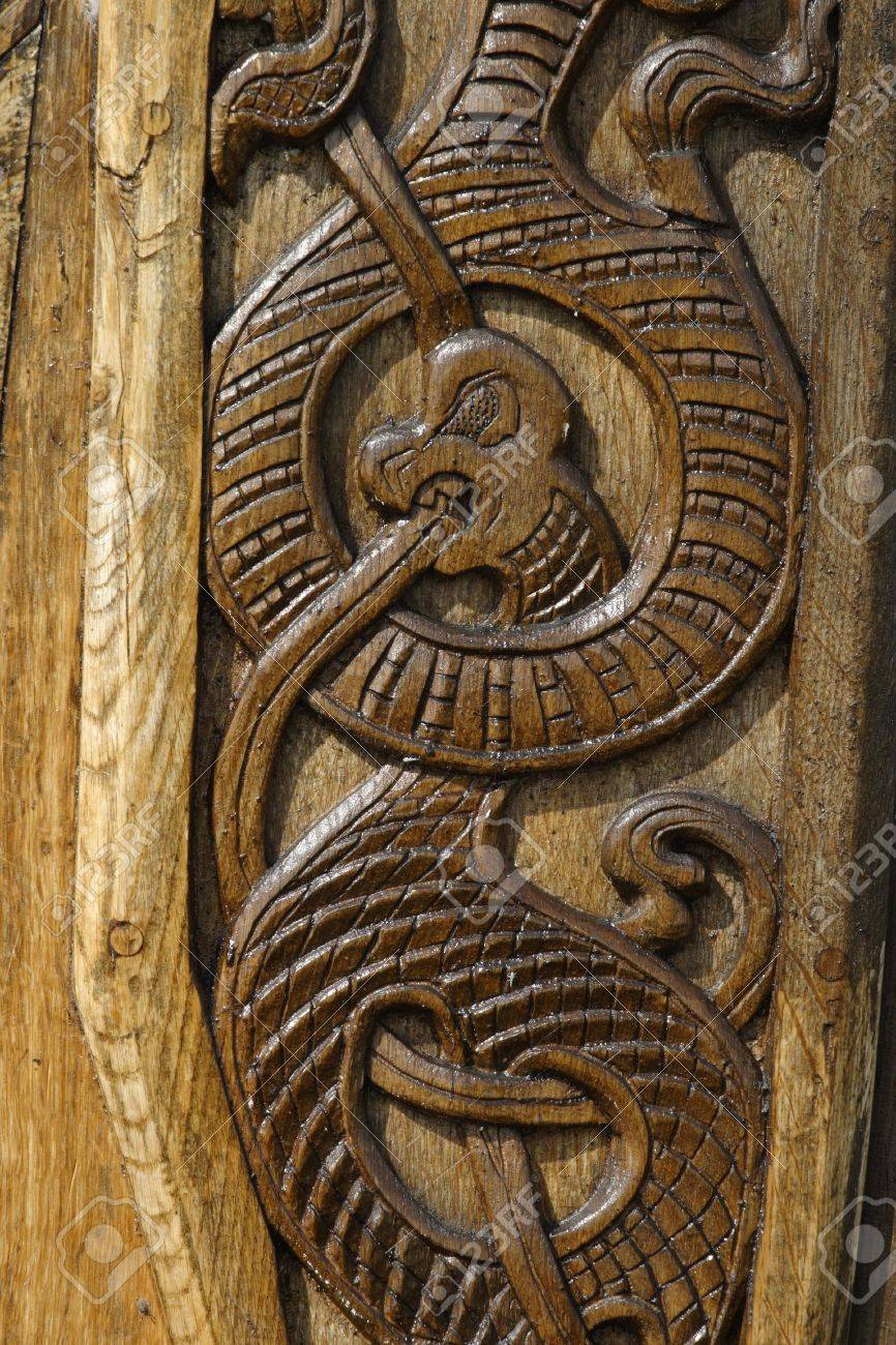 Wood carved dragon. Stock Photo - 11376585