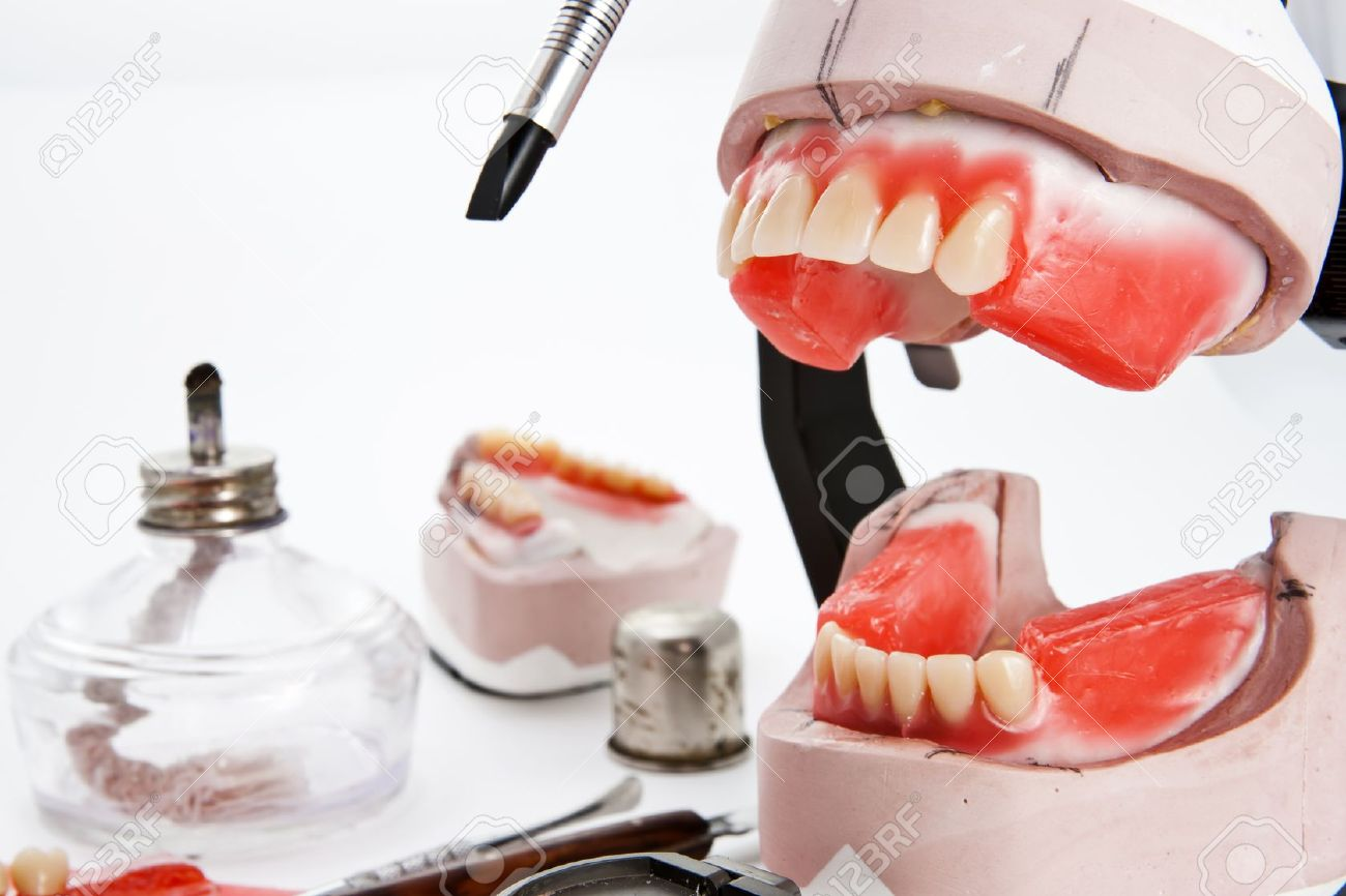 Dental lab articulator and equipments for denture Stock Photo - 11164647