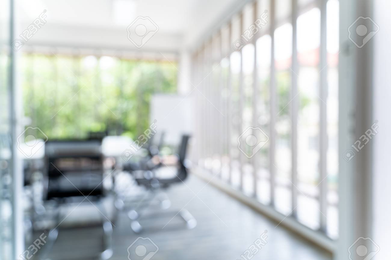 Blurred Image Of Meeting Room In The Modern Office Ideal For