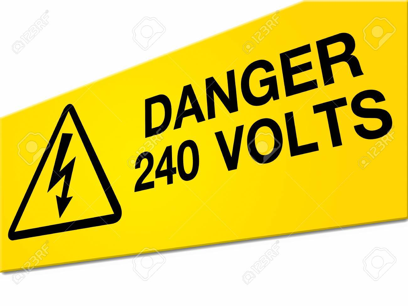 Danger high voltage sign isolated on white background Stock Photo - 9630684