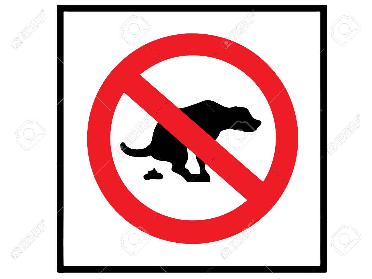 no dog shit Stock Vector - 8495644