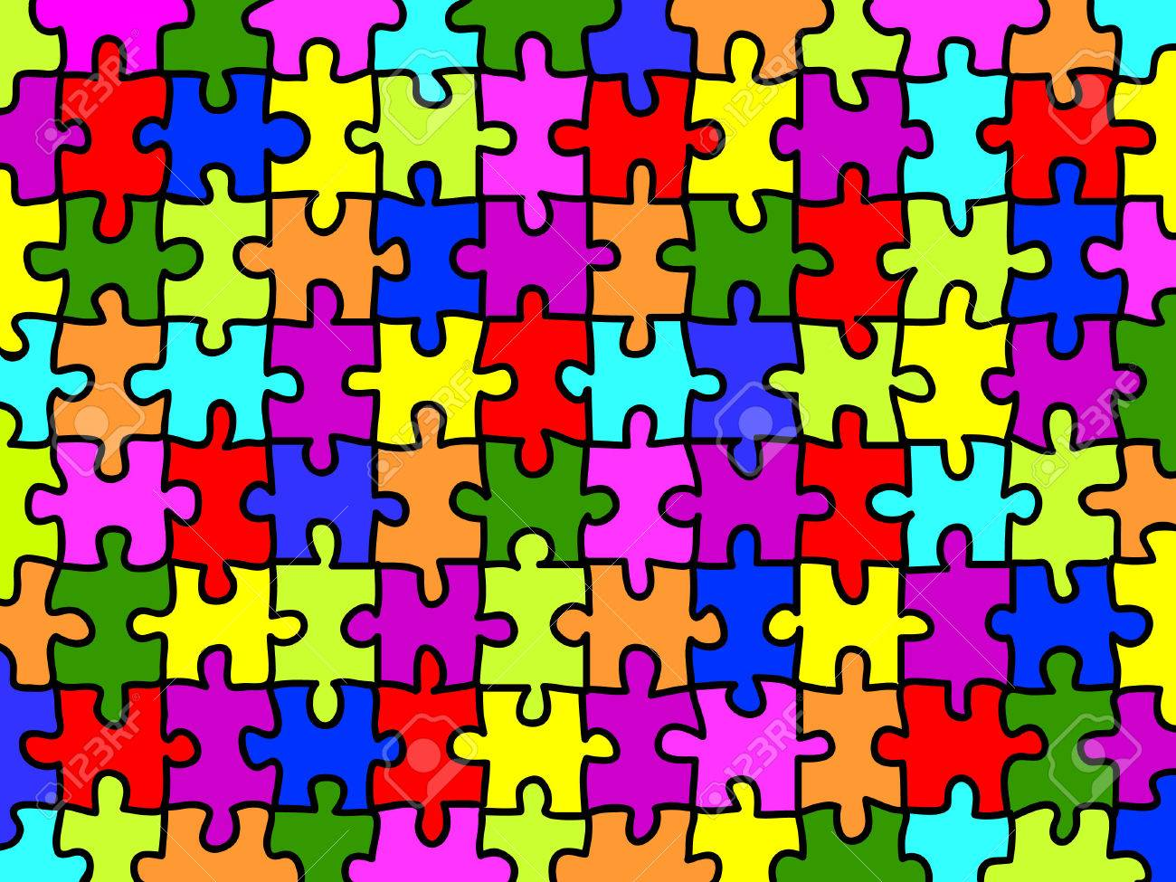 Puzzle Wallpaper Colorful Jigsaw