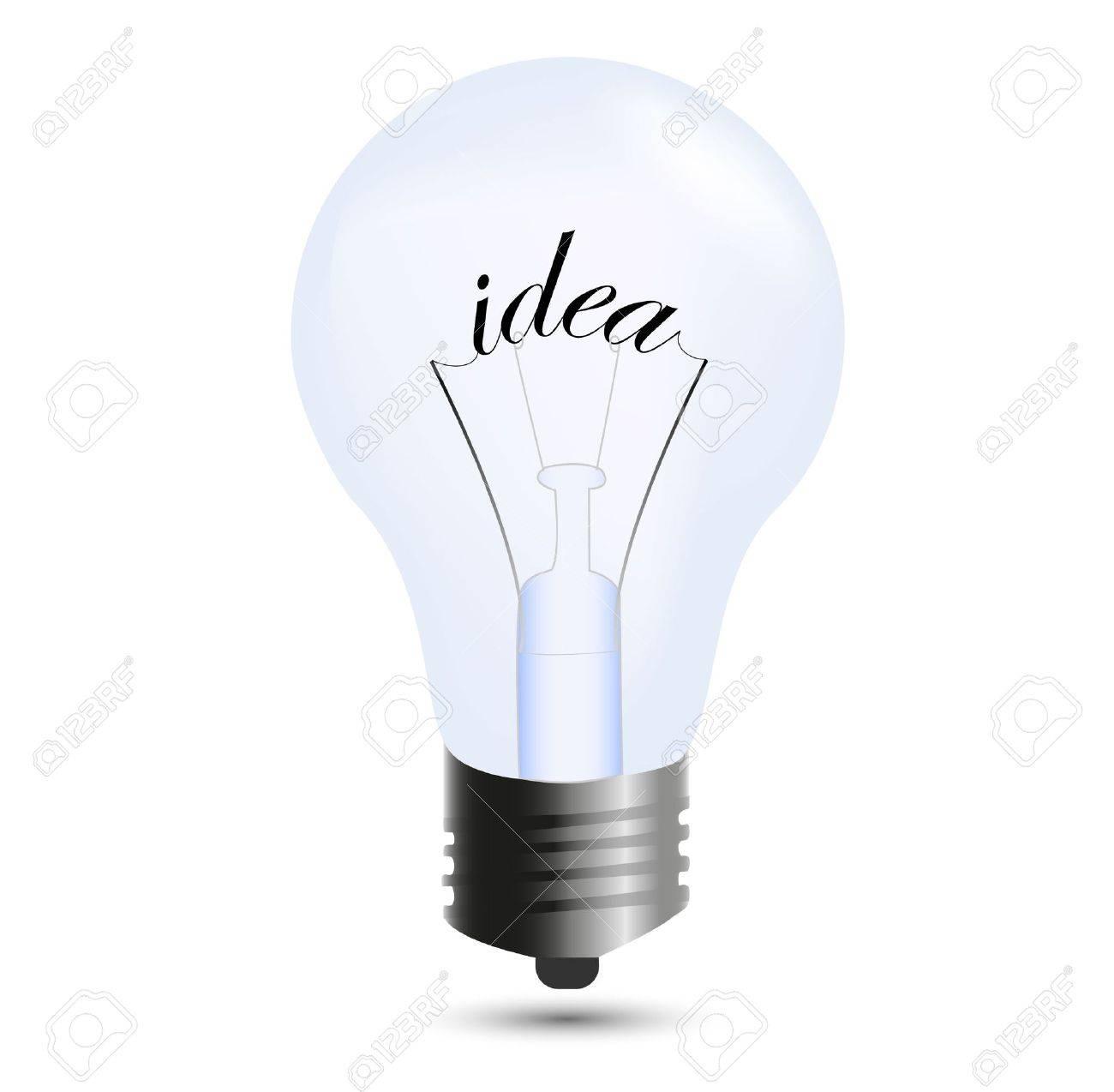Idea bulb isolated on white Stock Vector - 9388379