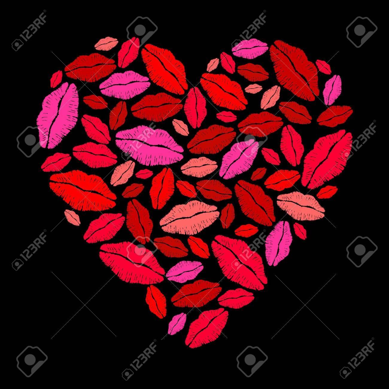 Lipstick heart Stock Vector - 10271036