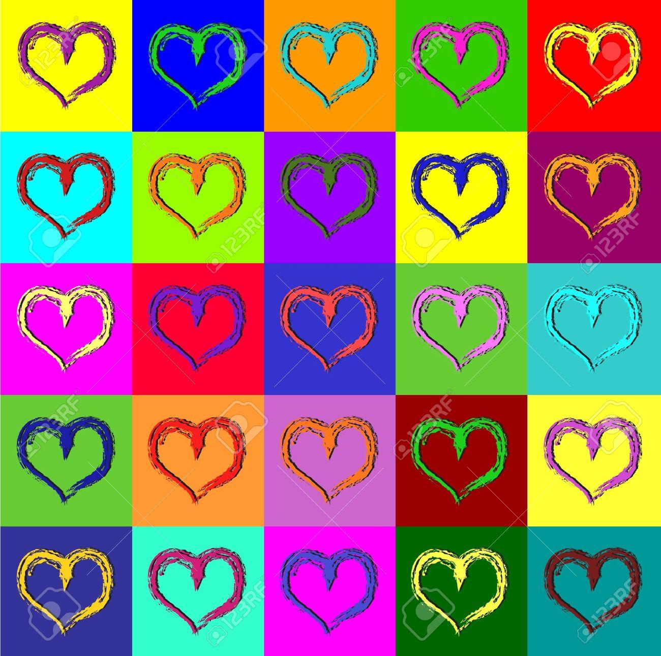 Warhol hearts - 12302094