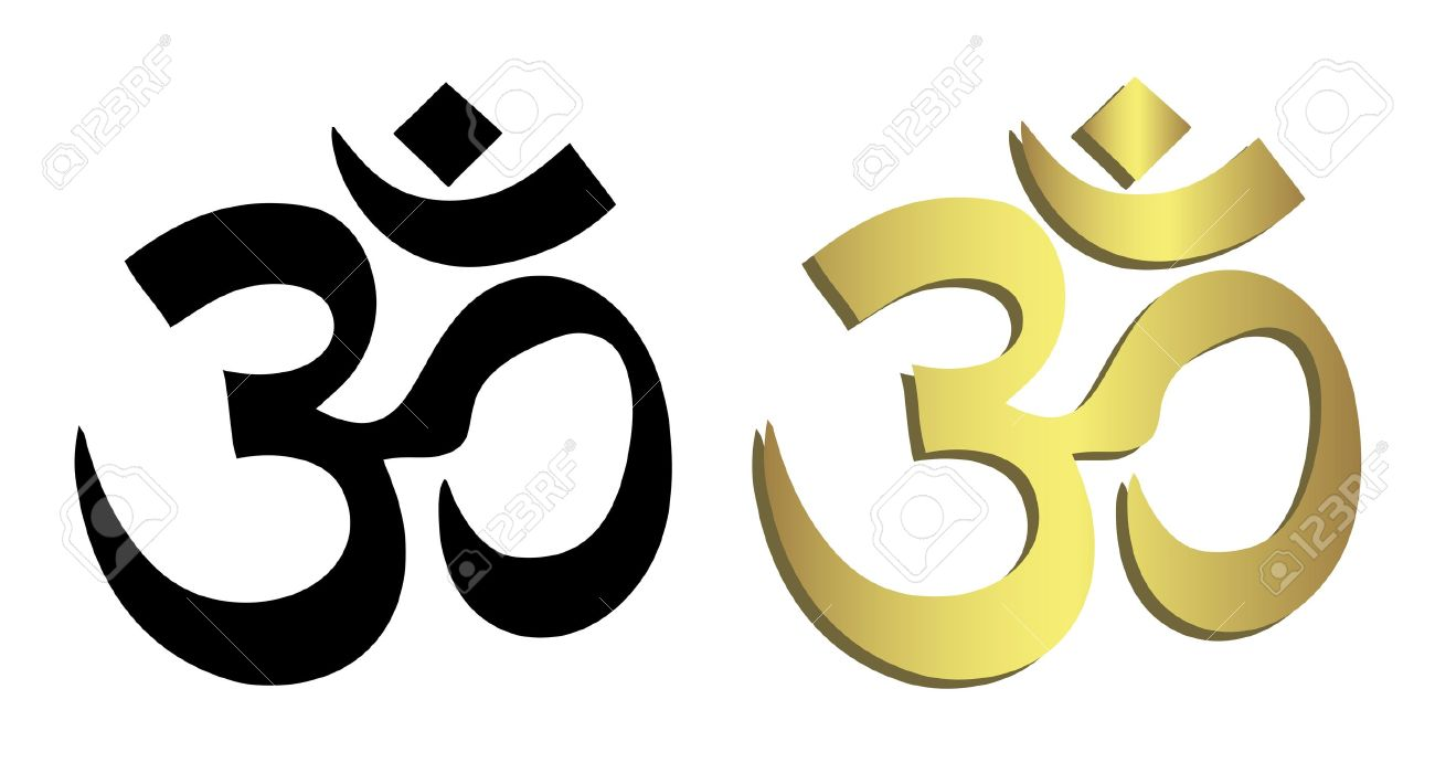 Om Symbol In Black And Gold Royalty Free Cliparts Vectors And