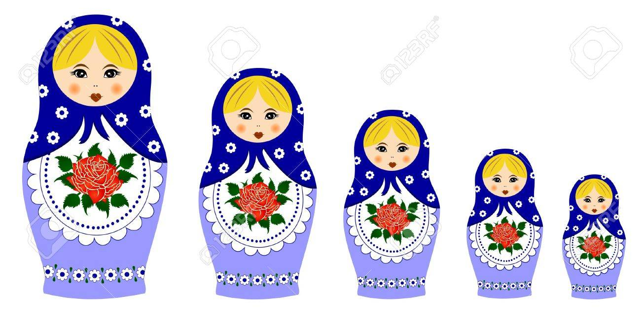 russian culture stock illustrations cliparts and royalty russian culture traditional matryoschka dolls