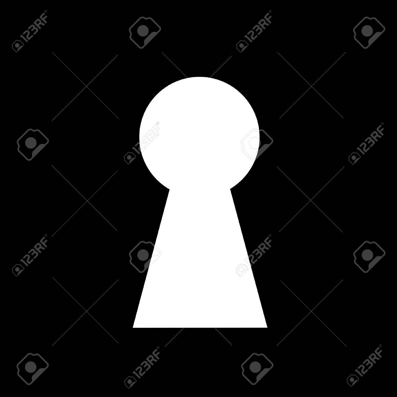 Key hole background vector. Easily put your own photo behind the key hole Stock Vector - 17301924