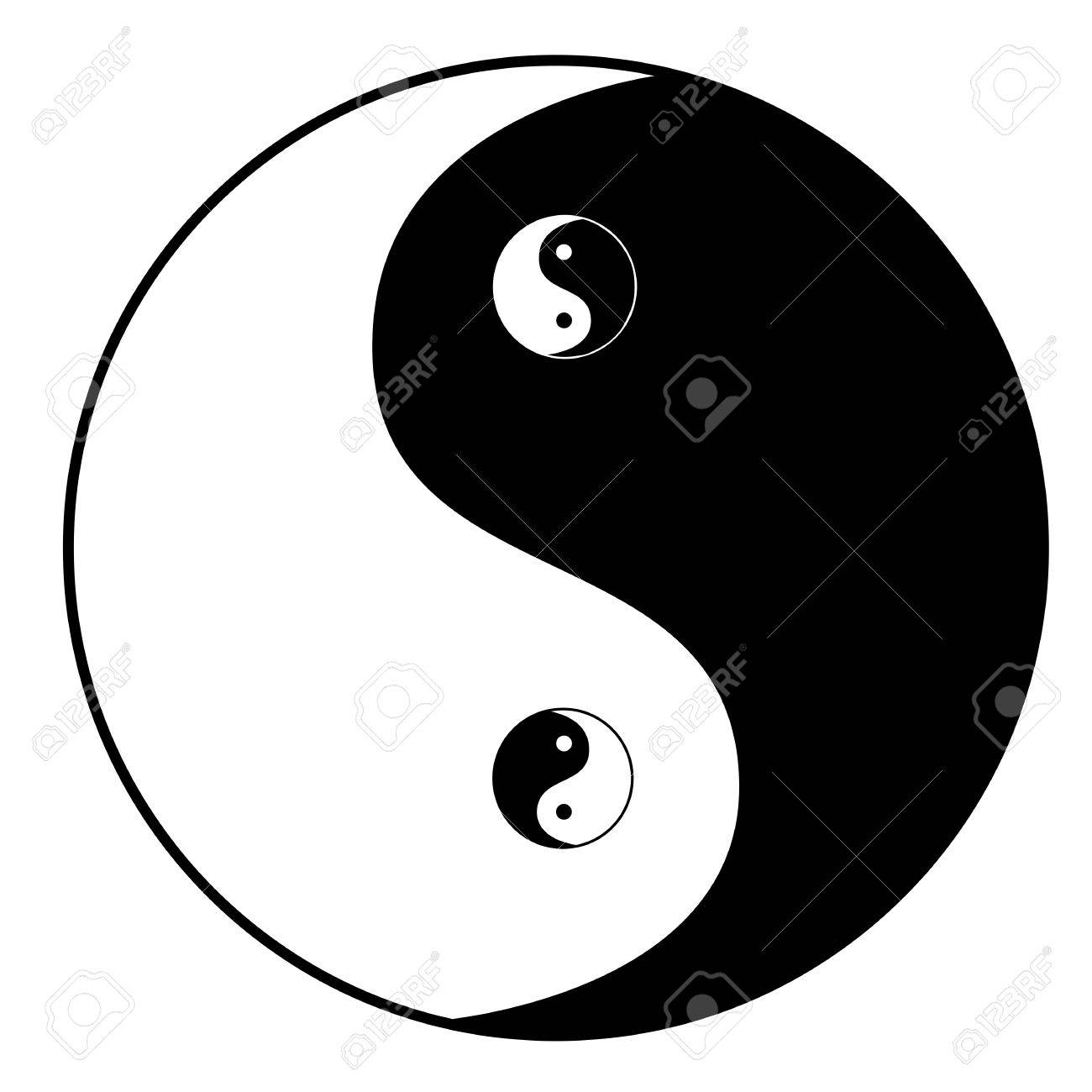 Ying yang symbol - 17301781