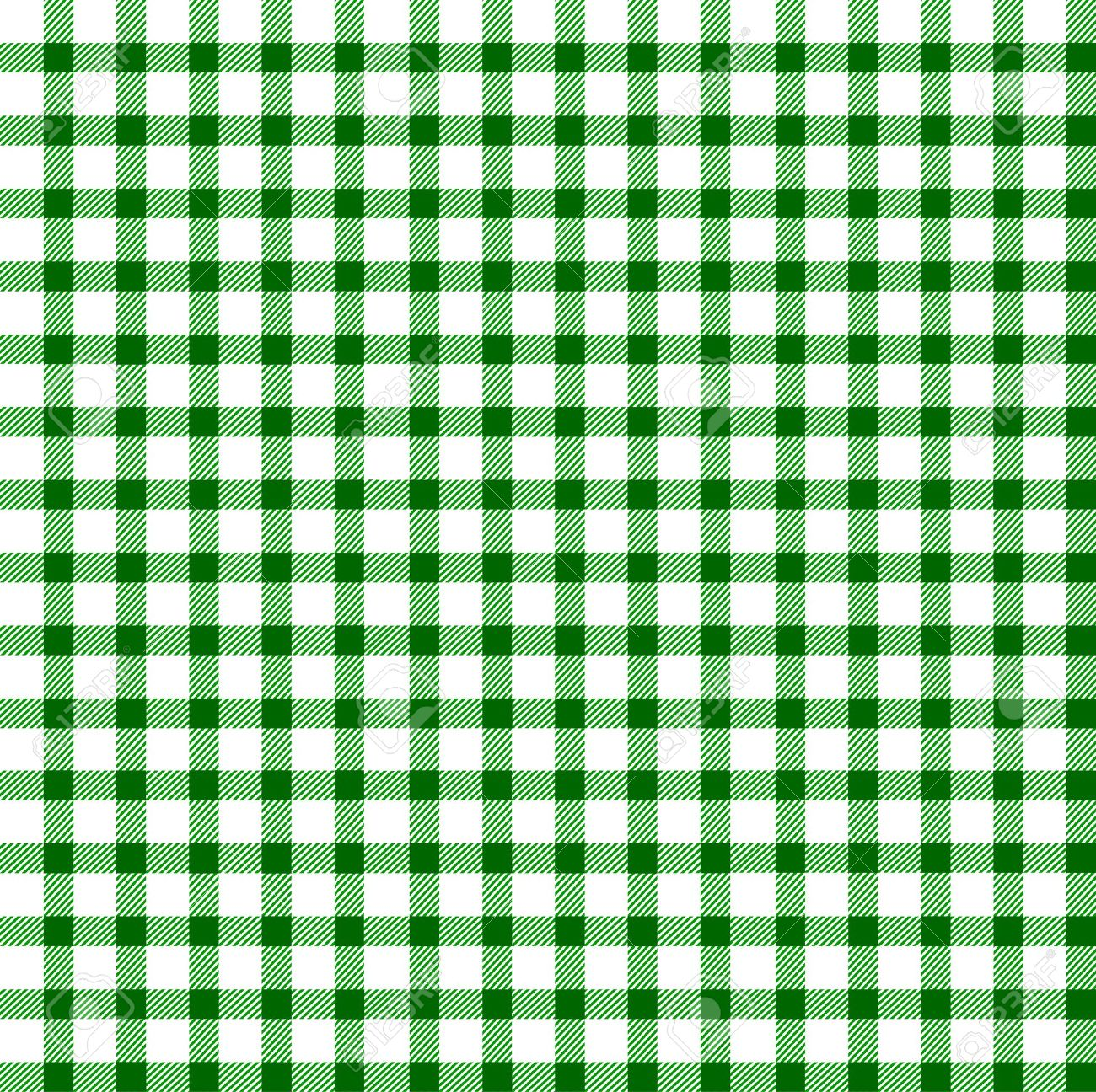 Seamless retro white-green square tablecloth Stock Vector - 17302201