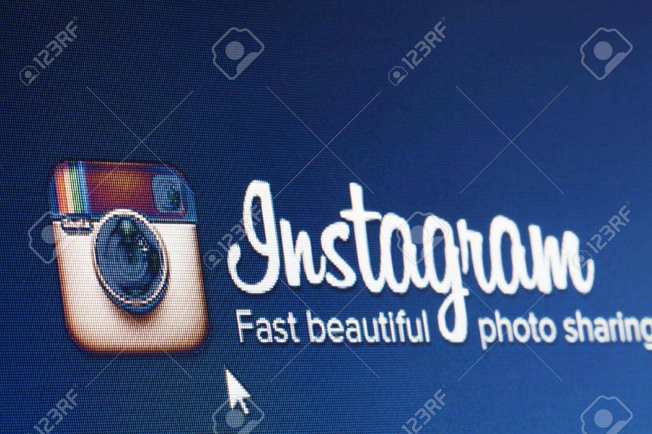 BRUSSELS- MARCH 03, 2013: Instagram Reaches 100 Million Users Milestone. Instagram co-founder Kevin Systrom wrote this on his blog. Stock Photo - 18329225
