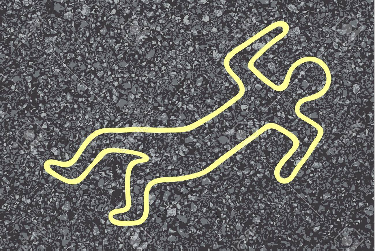 Chalk Outline Of A Dead Body Royalty Free Cliparts, Vectors, And ...