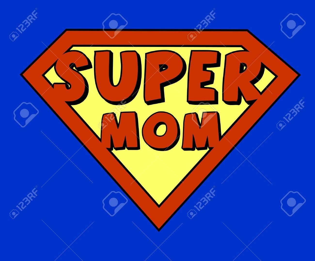 Drôle super maman bouclier Banque d'images - 18454752
