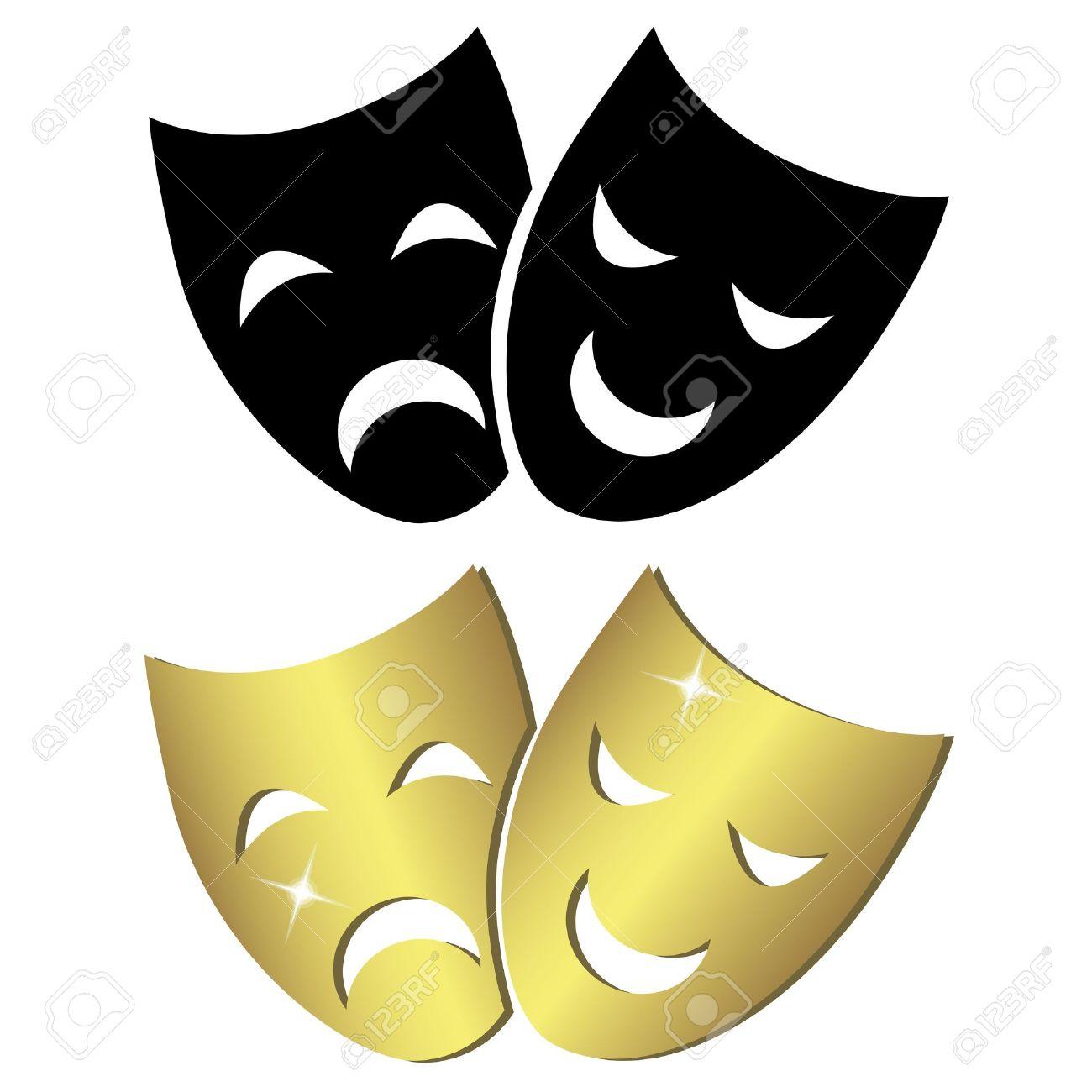 Masques de théâtre Banque d'images - 18454760