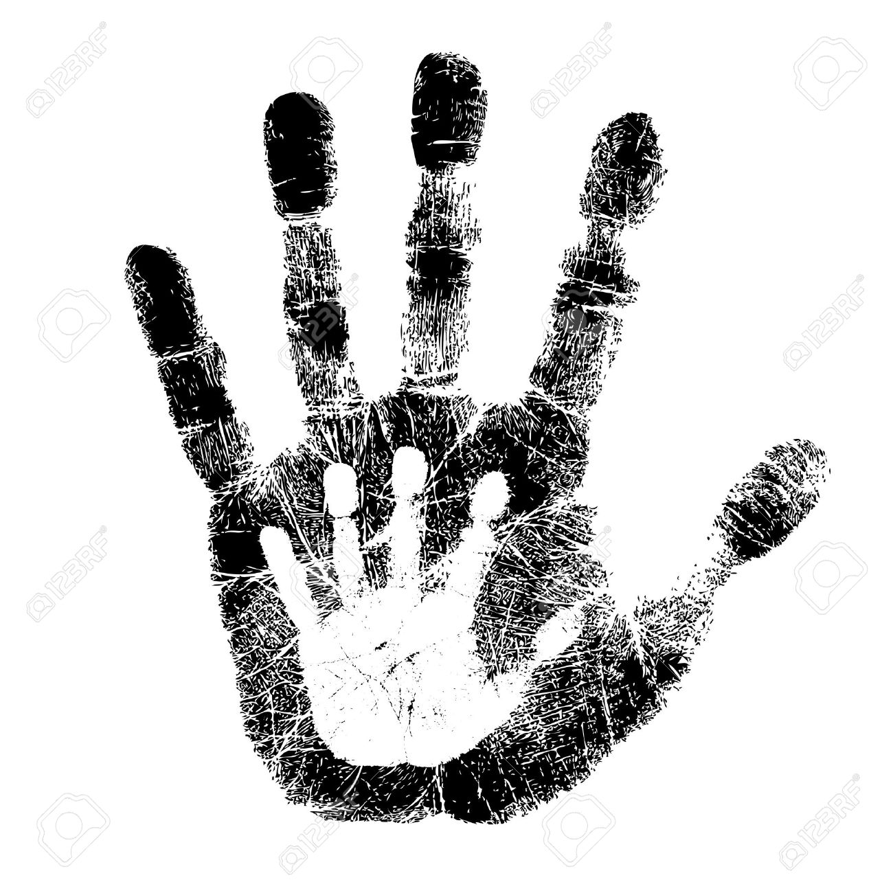 Adult And Child Hand Print Royalty Free Cliparts, Vectors, And Stock ...