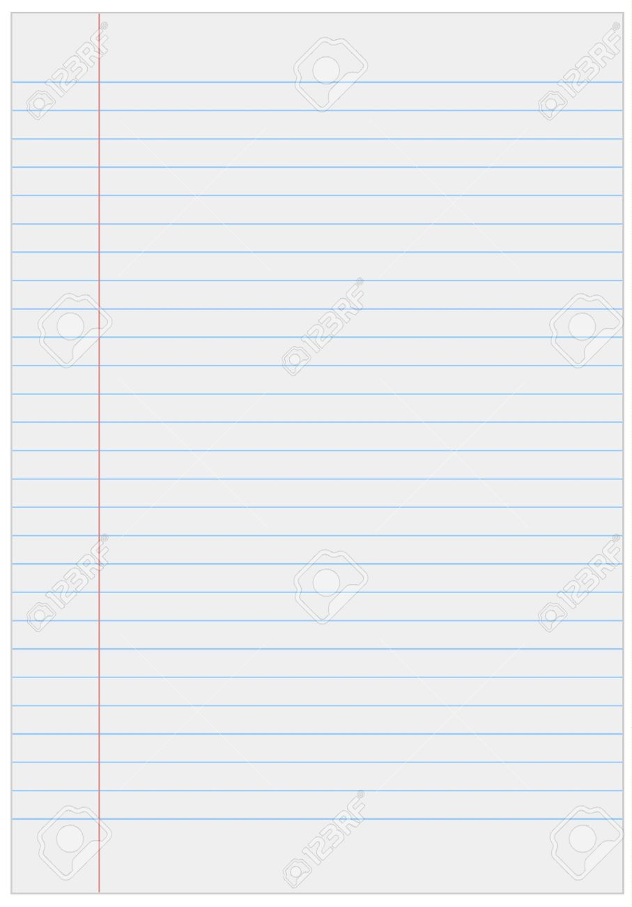Papier de cahier avec des lignes Banque d'images - 18454768