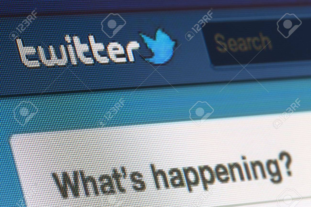 BRUXELLES - MARS 03: Twitter frappé par des pirates informatiques. Environ 40 entreprises ont été ciblées par un groupe de pirates de l'Est européen, de rapports de Bloomberg. Parmi eux, Twitter et Apple le 03 Mars 2013 à Bruxelles Banque d'images - 18450898