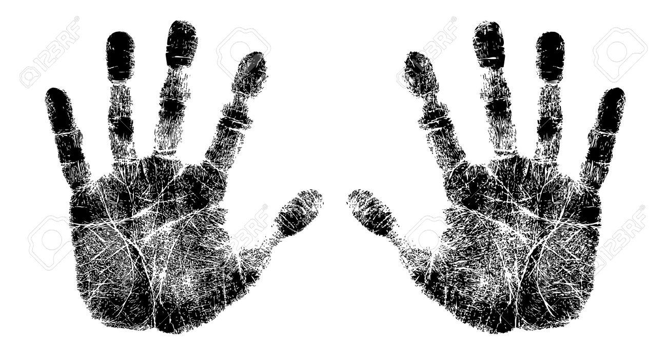 empreinte de la main gauche et à droite Banque d'images - 18847219