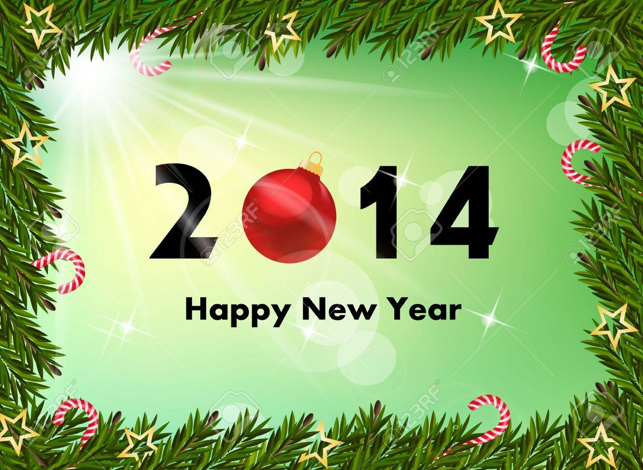 2014 nouvelle année de fond Banque d'images - 21330700
